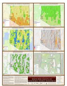 White Pine Renewable Energy Resource Map